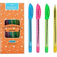 """От 24 шт. Ручка шариковая """"Диамант"""" прозрачная АВ889 синий купить оптом в интернет магазине От 24 шт."""