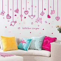 """Интерьерная виниловая наклейка на стену """"Любовь"""""""