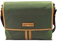 Мужская текстильная сумка VATTO MT34 хаки+рыжий