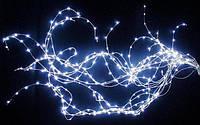 Новогодняя Светодиодная Гирлянда Нить Капелька Одноцветная для Дизайна Поме