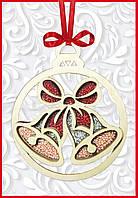 F-094 Набор новогоднее украшение из фанеры Новогодняя игрушка Колокольчик