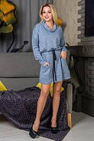 Модное женское платье Баги-13 голубой