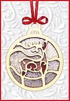 F-095 Набор новогоднее украшение из фанеры Новогодняя игрушка Олень