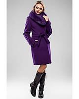 Ledi M Женское зимнее пальто RA 020 фиолетовый Леди М