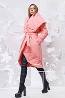 Женская зимняя куртка oversize с поясом