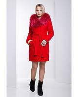 Ledi M Женское зимнее пальто RA 120 ярко-красный Леди М