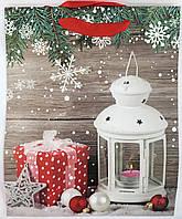 Пакет подарочный Снежный Новый год (12 шт упаковка) большой ассорти