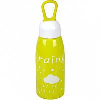 Бутылка для воды пластик с резинкой 0,45литра