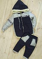 Детский комплект зимний куртка комбинезон на овчине Philip Plein