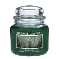 """Ароматическая свеча """"Бальзамическая пихта"""" в стекле Village Candle. 455 гр/ 105 часов"""