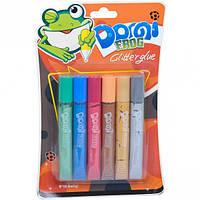 """Клей перламутровый 10. 5мл """"Dorgi frog"""" 6 цветов"""