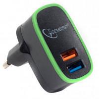 Зарядное устройство GEMBIRD 2 USB, 5V/2.1A (MP3A-UC-AC9)