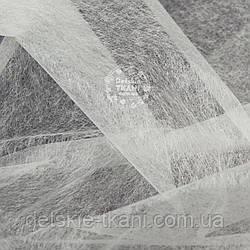 Клеевой двусторонний флизелин для аппликации (паутинка), цвет белый, 100*110 см