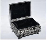 Шкатулка метал  мельхиор 1017-11