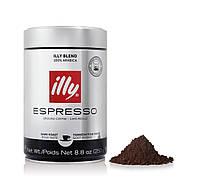 Молотый кофе illy Espresso Dark Roast  250g (Илли Эспрессо Тёмная обжарка 250г)