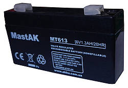 Аккумулятор свинц   6v, 1.3 Аh CA 613 (97-24-51) Mastak