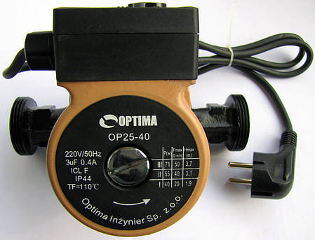 Насос циркуляційний Optima OP25 / 40 180мм Польща, фото 2