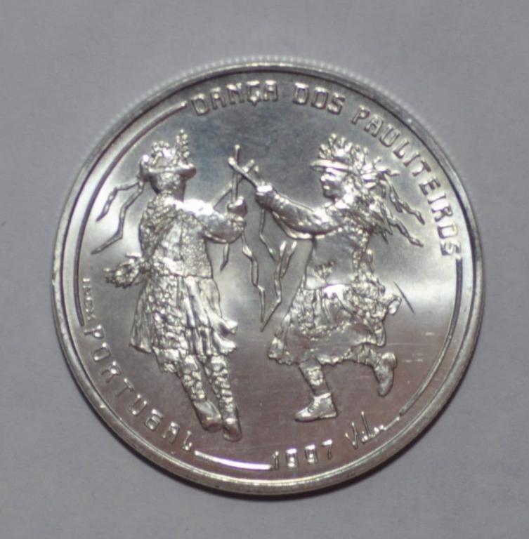 1000 эскудо 1997 Португалия - Танец. Серебро. UNC