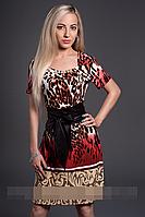 Платье женское мод 350-3,размер 46,48,50,52 красн.вст