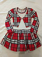 Платье клетка с фатином 14275