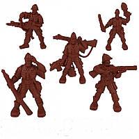 Набір воїнів Загін Родезія без коробки (5 воїнів/ колір теракотовий), Fantasy
