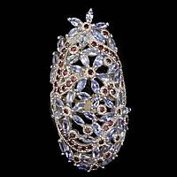 Серебряное кольцо с натуральным танзанитом и родолитом