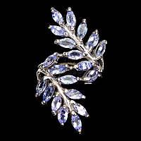 Серебряное кольцо с танзанитом