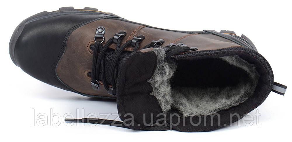 ... Ботинки мужские зимние кожаные на меху Ecco Gore-tex хаки 95093ef372caf