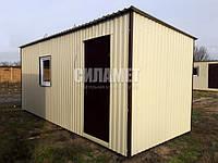 Вагончик бытовка строительный 6х2.4м, металлический, изготовление, фото 1