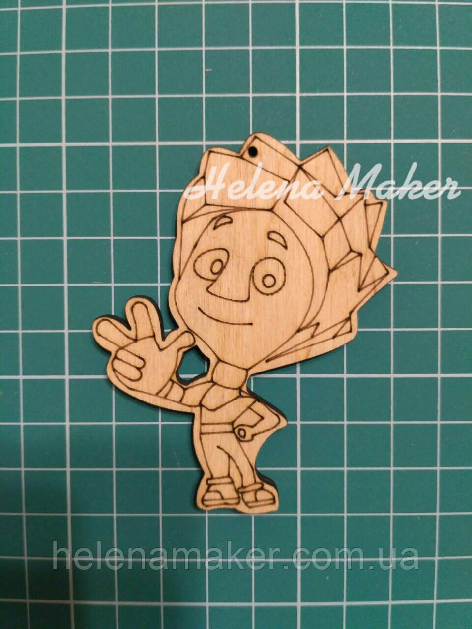 Деревянная заготовка Новогодняя игрушка Фиксики Нолик 8*6 см