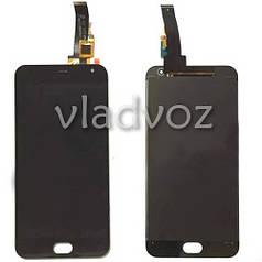Дисплей модуль экран с сенсором для замены на Meizu M2 mini LCD черный большая микросхема 5х5мм.