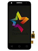 Дисплей (Модуль) для мобильного телефона Alcatel 4027D One Touch Pixi, черный, с тачскрином