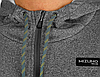 Толстовка с капюшоном (серый меланж) Mizuno Heritage Zip Hoodie K2GC7505-07, фото 2