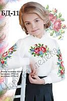 Детская блузка под бисер розы