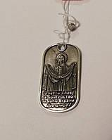 Серебряный жетон армейский с Пресвятой Богородицей Покрова