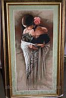Картина вышитая  крестом   Испанка