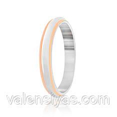 Серебряное кольцо обручальное  К23/402