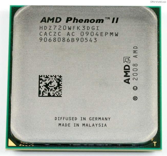 Процессор AMD Phenom II X3 720 Black Edition 2.8GHz + термопаста GD900