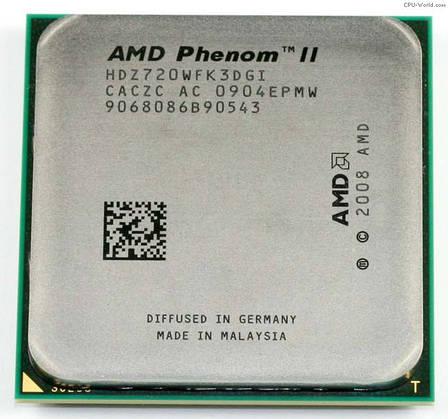 Процессор AMD Phenom II X3 720 Black Edition 2.8GHz + термопаста GD900, фото 2