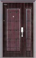 Двери входные металлические наружные двухстворчатые для частных домов1020 на 2005
