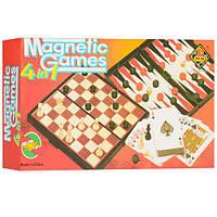 Набор настольных игр на магнитах 4 в 1 , фото 1