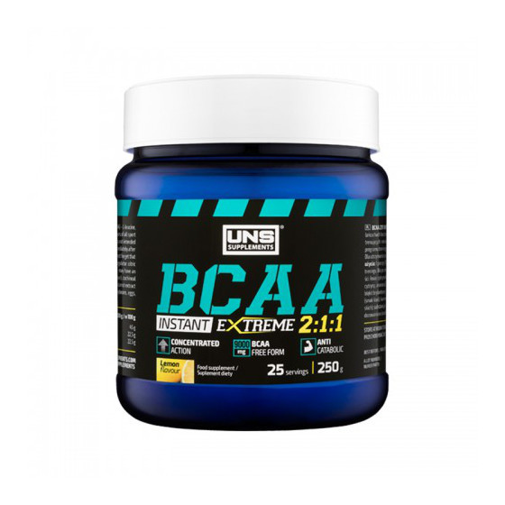 UNS BCAA 2:1:1 instant 250 g, ЮНС БЦА 2:1:1 инстант 250 грамм