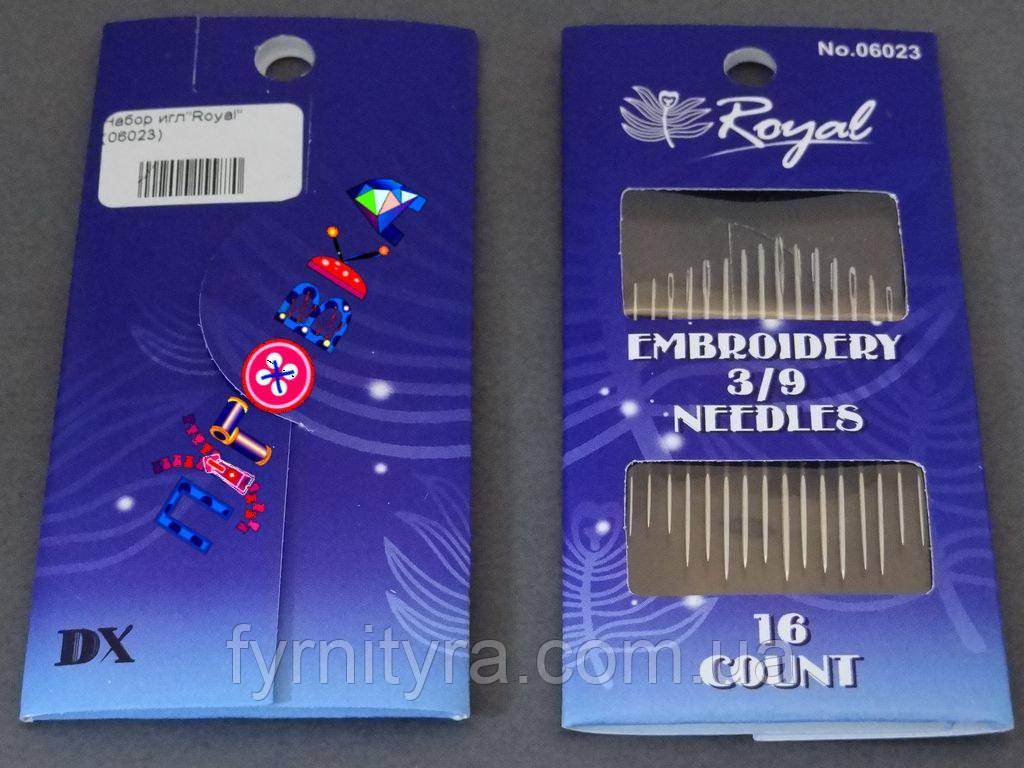 "Набор игл""Royal"" Embroidery 3/9 06023"