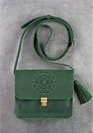 """Чудова смарагдова сумка """"Лілу"""" для вишуканих модниць."""
