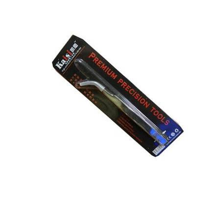 Пинцет изогнутый  Kaisi TS-15 хром Premium precision tools, фото 2