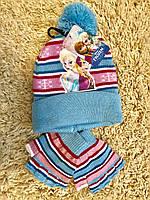 Шапка детская + перчатки Disney 3-6 лет