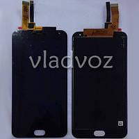Дисплей модуль экран с сенсором для замены на Meizu M2 Note LCD черный