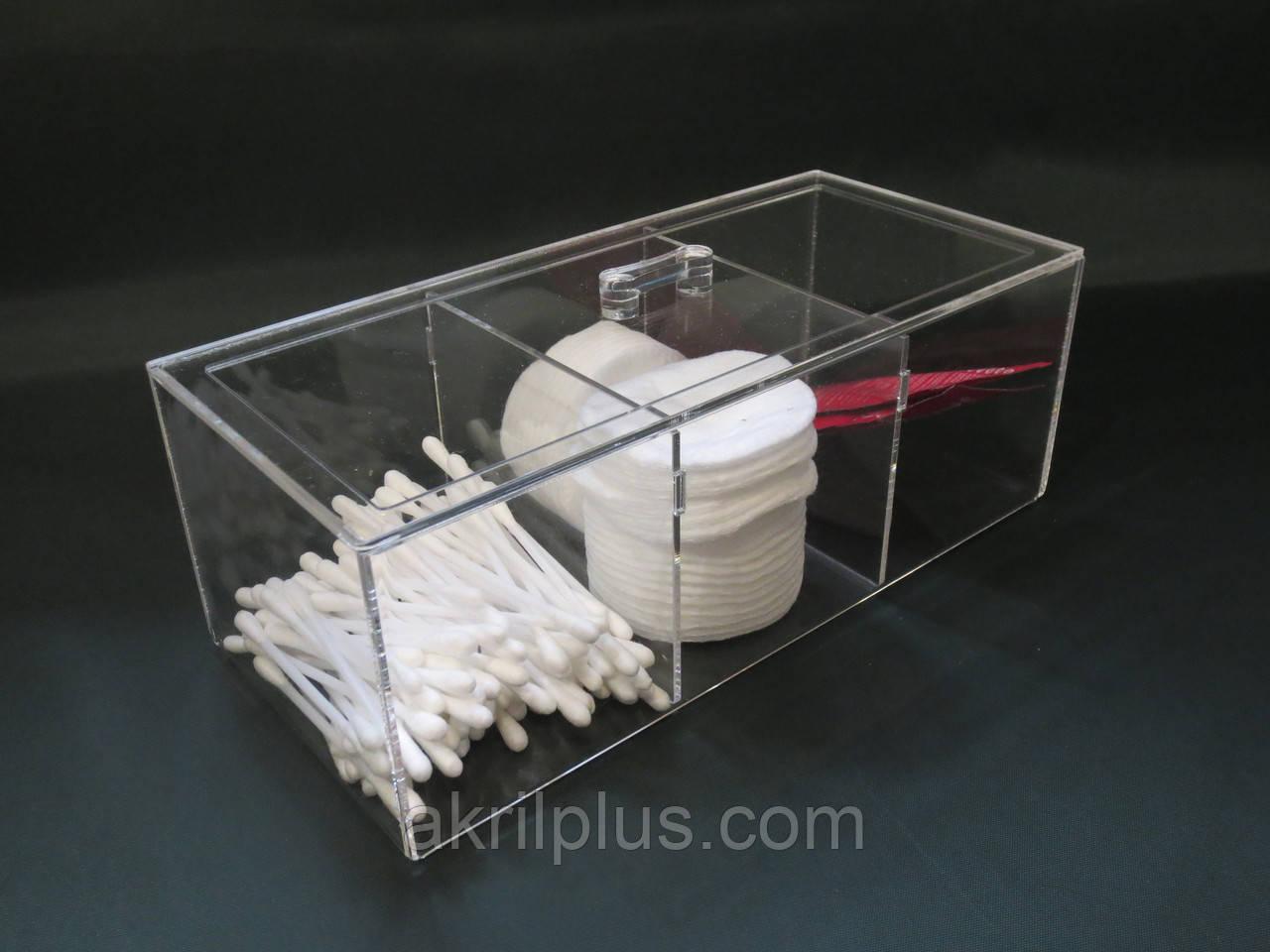 Органайзер для хранения ватных дисков и ушных палочек