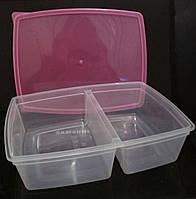 """Пластиковый контейнер """"Двойной"""" 1,3 л"""