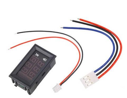 Цифровой вольтметр-амперметр DC 0-100V , 10A, фото 2